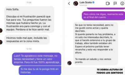 Baloncesto |  Olimpiadas: Luis Scola se disculpa con periodista a través de mensaje privado