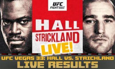 Resultados de UFC Vegas 33 en vivo Hall vs Strickland