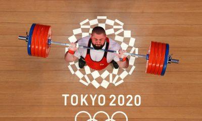 TOKIO, JAPÓN - 4 DE AGOSTO: Lasha Talakhadze del equipo Georgia compite durante el levantamiento de pesas - 109 kg de hombres + Grupo A el día doce de los Juegos Olímpicos de Tokio 2020 en el Foro Internacional de Tokio el 4 de agosto de 2021 en Tokio, Japón.  (Foto de Chris Graythen / Getty Images)