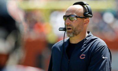 Matt Nagy, osos de Chicago.  (Crédito obligatorio: Jon Durr-USA TODAY Sports)
