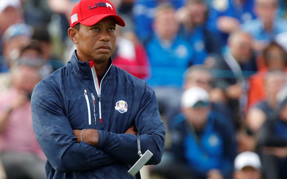 Tiger Woods - la súplica de Tiger Woods para & # x002018; pisarles el cuello & # x002019;  inspiró el récord de victoria de EE. UU. en la Ryder Cup - REUTERS