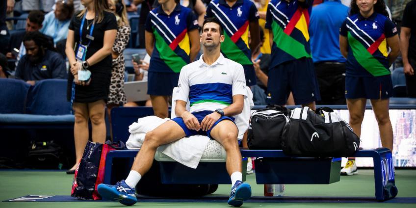 'Nunca había visto a Novak Djokovic así que ...', dice la leyenda de la ATP