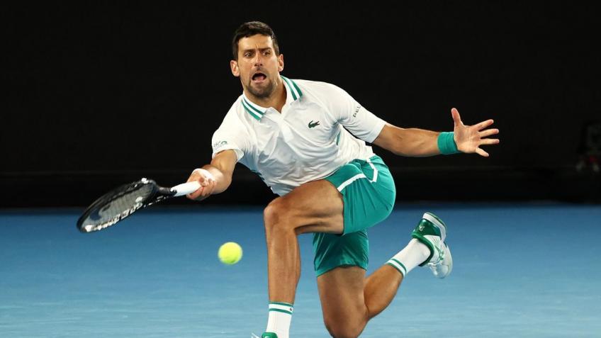 'Con tanto en juego para Novak Djokovic, tienes que pensar ...', dice la leyenda