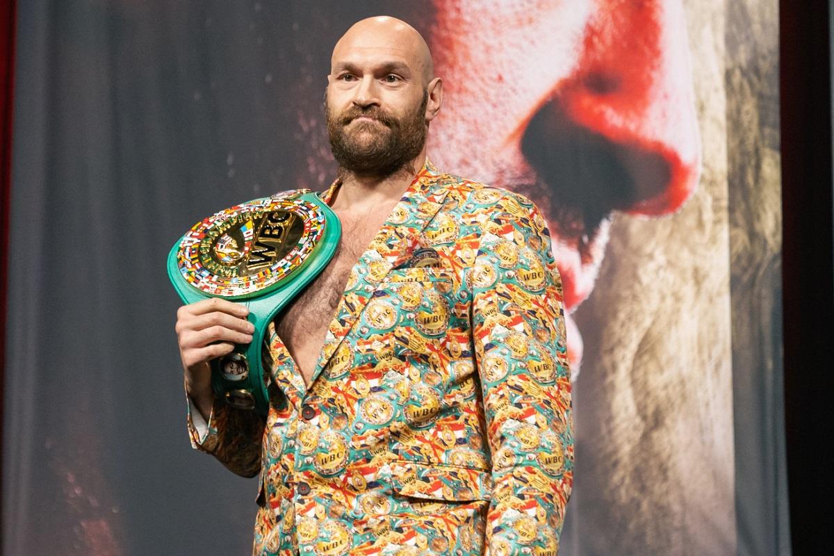 Campeón de peso pesado de la conferencia de prensa de Tyson Fury