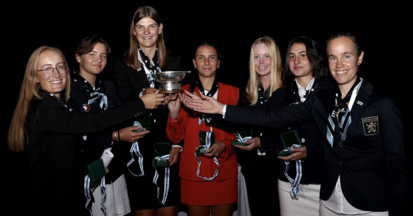 El continente europeo gana el Trofeo Junior Vagliano - Golf News