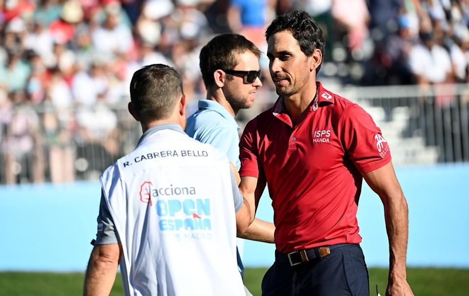 El español Rafa Cabrera Bello se hace con el primer puesto en el Open de España;  Jon Rahm seis atrás