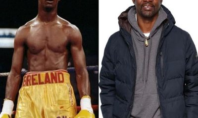 Floyd Mayweather compartió esta instantánea de Mark Breland ahora (derecha) y en sus días de lucha (izquierda)