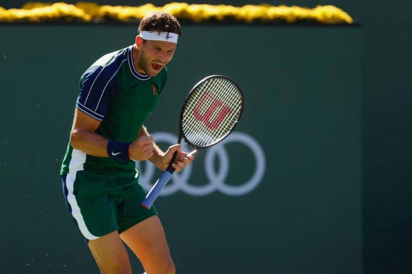 ATP Indian Wells: Grigor Dimitrov aturde a Daniil Medvedev y arruina sus posibilidades de No. 1