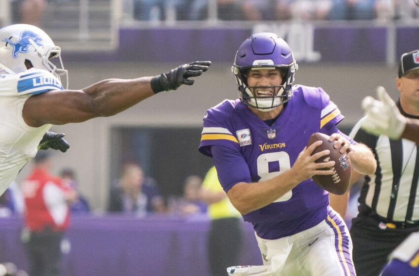 Kirk Cousins, Vikingos de Minnesota.  (Crédito obligatorio: Matt Blewett-USA TODAY Sports)