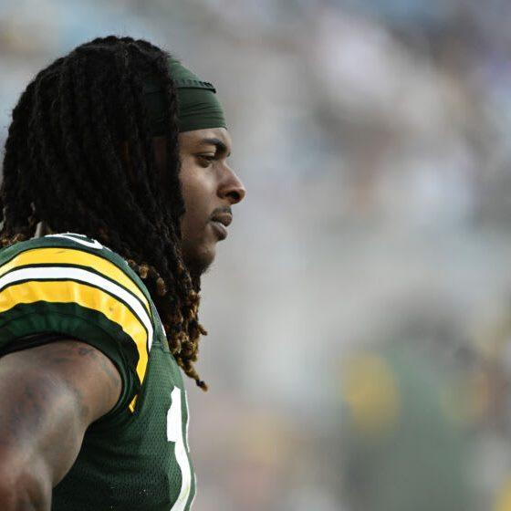El receptor abierto de los Green Bay Packers, Davante Adams.  (Tommy Gilligan-USA TODAY Sports)
