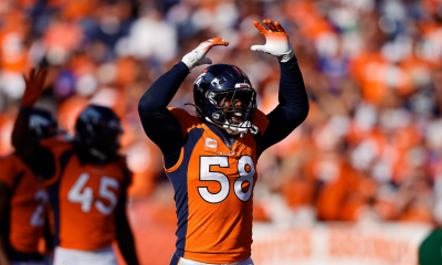 Lesión de Von Miller: Broncos LB sale después de lesionarse el tobillo vs Browns