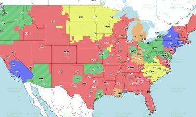 Mapa de cobertura de la NFL 2021: programación de TV Semana 6