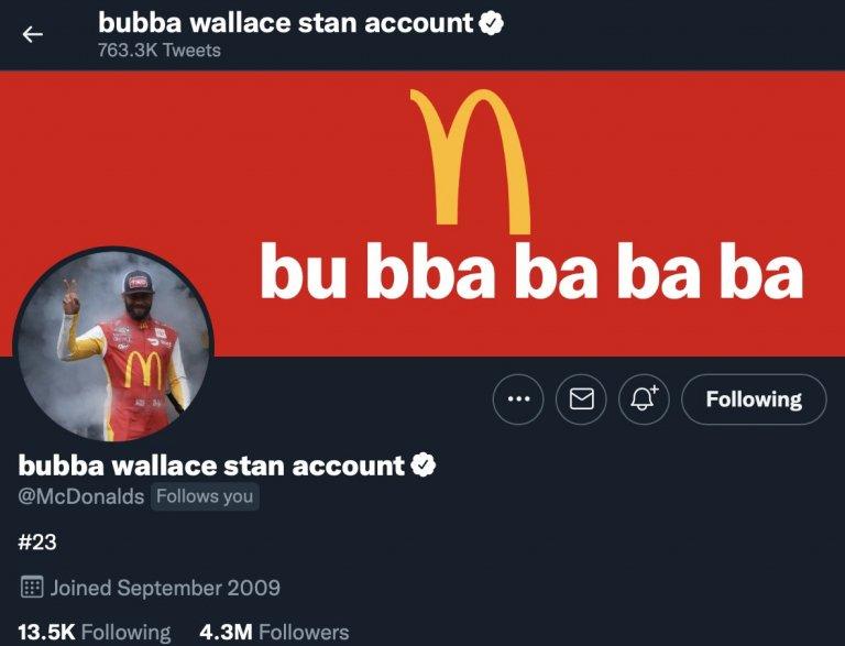 Cuenta stan de Bubba Wallace