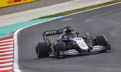George Russell durante la clasificación del GP de Turquía.  Estambul, octubre de 2021.