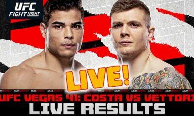 Resultados UFC Vegas 41 en vivo - Paulo Costa vs Marvin Vettori