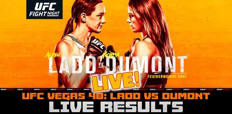 Resultados de UFC Vegas 40 Live - Aspen Ladd vs Norma Dumont