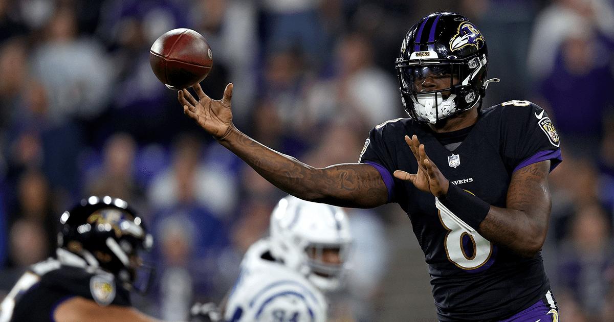 TD de salida de Lamar Jackson: Mariscal de campo de los Ravens lidera la victoria de regreso sobre los Colts
