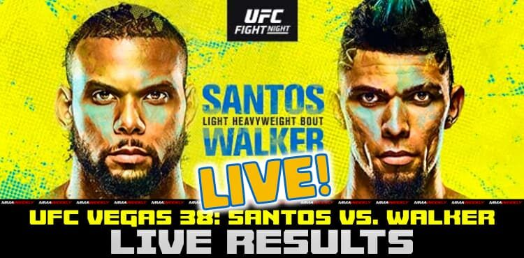 UFC Vegas 38 resultados en vivo Thiago Santos vs Johnny Walker