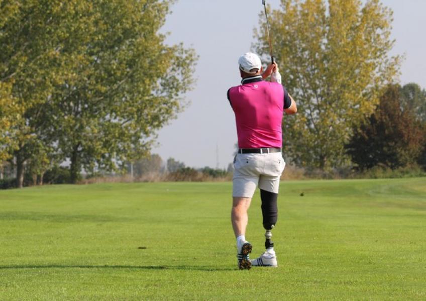 Tommaso Perrino, el rey de los golfistas discapacitados