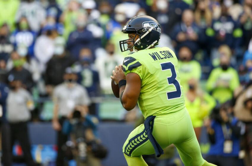 Russell Wilson, Seattle Seahawks Crédito obligatorio: Joe Nicholson-USA TODAY Sports