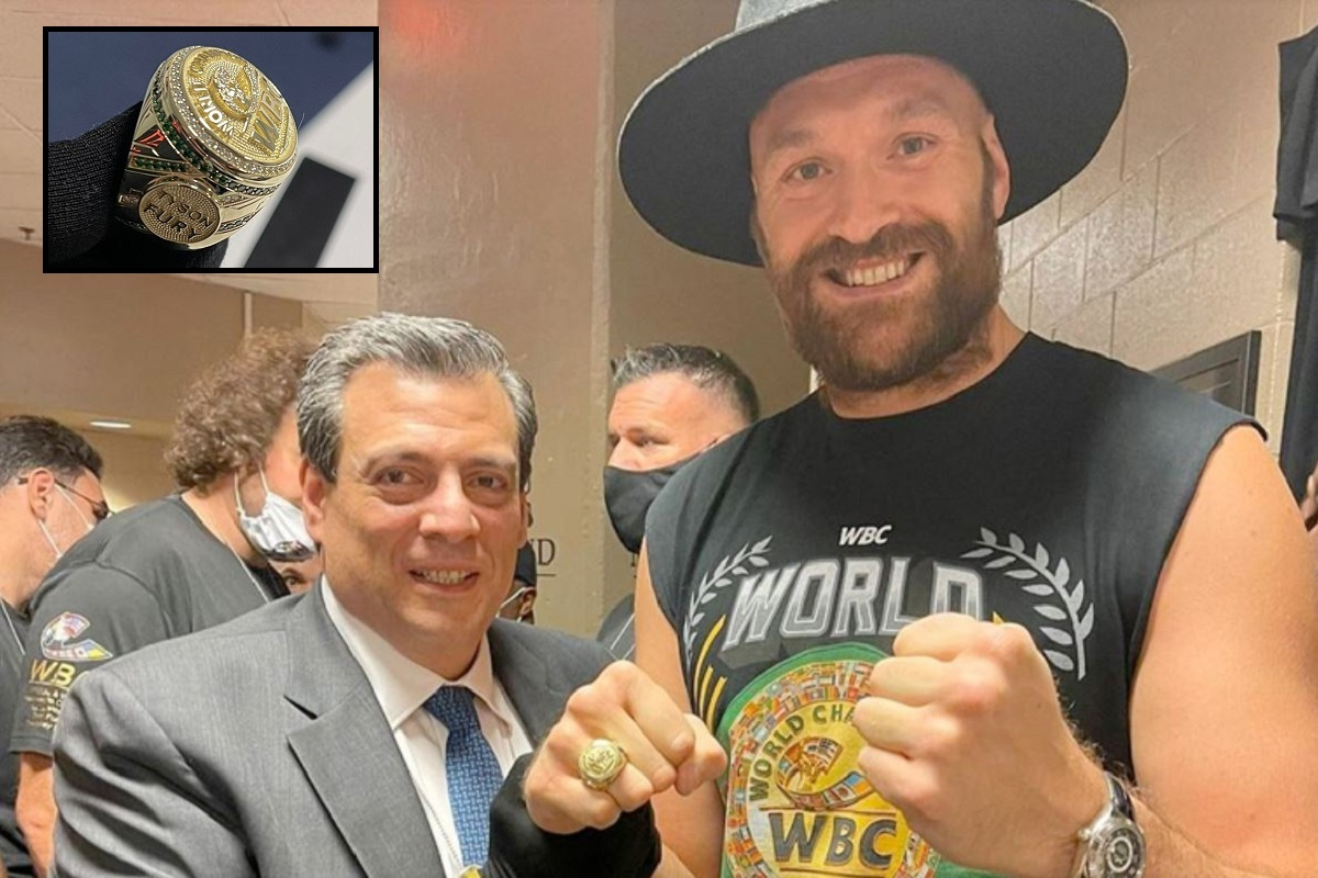 Anillo del Consejo Mundial de Boxeo Tyson Fury