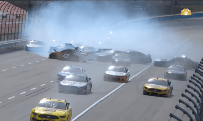 Video: Bubba Wallace, Kurt Busch desencadena el accidente más grande en la historia de Texas Motor Speedway, 18 autos involucrados