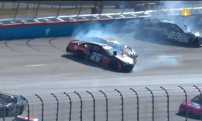 Video: Dylan Lupton, Tanner Berryhill y Jade Buford recogidos en un accidente grave en la curva uno en Texas