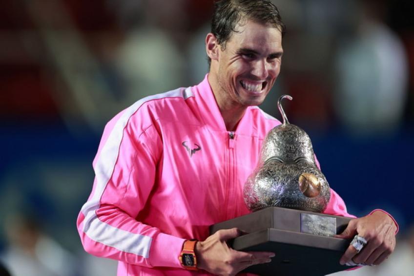 Rafael Nadal recuerda: 'Volver a tener trofeo en Acapulco se siente genial'