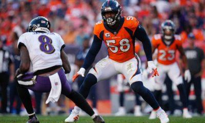 El apoyador externo de los Denver Broncos, Von Miller.  (Ron Chenoy-USA TODAY Sports)